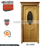 European Style the latest wood glass door design single swing door for exterior in china