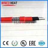 water resistant self regulated heat trace heating cable for inside pipe with PTFE jacket