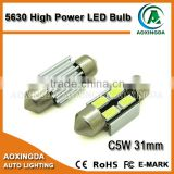 31mm 5630 4SMD festoon car LED light bulb for door light reading light sun visor light