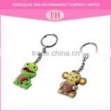 Superior quality customize metal key chains frog monkey models keychain manufacturers in china