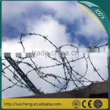 Guangzhou factory hot-dip galvanized barbed wire/barb wire/minitary fence barbed wire (free sample)
