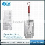 Good Quality Nikel Plated Iron Wire Fry Basket,Catering Equipment Accessories