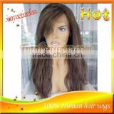 Hot Sale #4/27 Natural Wave Brazilian Glueless Full Lace Wigs With Bangs Full Lace Human Hair Wig For Black Women