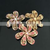 Double Layered AB Rhinestone Flower Brooch Pin For Wedding,Rhinestone Pin Buckle