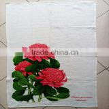 silkscreen printed tea towel kitchen linen teatowel printed for sales &home decoration