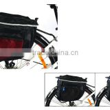 Bicycle Nylon Fabric Waterproof 600D PVC Luggage Carrier Rack Holder Bag with 3M Reflective Stripe