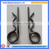 Custom stainless steel shaped wire clamp forming spring