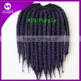 ( Color #1b/purple ) STOCK 18inch 100grams Ombre Purple Color Synthetic Havana Marley Twist Crochet Braiding Hair Extension