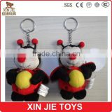 customize plush keychain toy cute bee soft keychain toy nice design plush bee keychain