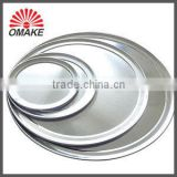 wide rim customized aluminum disposable pizza pan