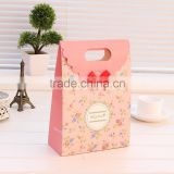large beautiful juwel pink drawstrings gift paper printed gift bag for Valentine's Day
