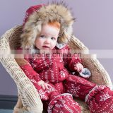 DB1277 dave bella 2014 autumn winter infant clothes baby one-piece baby sleeping wear baby winter romper bosysuit