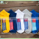 American flag socks fashionable invisible men boat socks