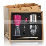 coffee grinder with stainless steel coffee filter set, coffee maker with vietnam coffee filter set