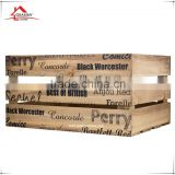 Used wood fruit crate were originally manufactured to transport fruit around the country