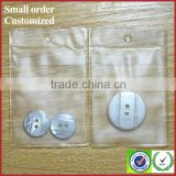 Plastic bag with snap button clear pvc bags