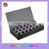 Black Leather Cufflink Box Wholesale Cufflink Packaging Box Custom Design Cufflink Box