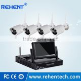 4Ch Wifi NVR KIT 720P 1.0mp Wireless Outdoor Bullet IP Camera 2.4G Surveillance NVR Security Wifi IP Camera Kit