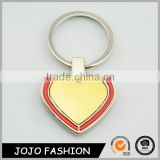 New custom colored promotional heart shape metal keychain