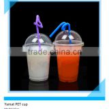 16oz PET Type Clear Plastic Smoothie Cups With Dome Lids Plastic PET Manufacturer