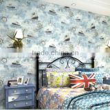 Cartoon Characters non-woven wallpapers for Kids Room decoration self adhesive wallpaper                                                                                                         Supplier's Choice