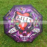 heat transfer silver uv protection printed umbrella