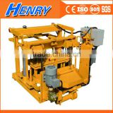 QT40-3A manual portable concrete hollow block making machine, block laying machine price in Tanzania