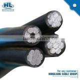33KV Multi-conductor Whelk Electrical Power Aerial Bundel Cable Aluminum Wire Scrap ABC Cable
