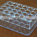 Custom acrylic test tube rack/acrylic processing products/plexiglass products/organic glass processing products