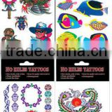 customized body tattoos stickers, glitter body tatoo stickers,cheap wholesales body tattoo stickers