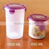 1000ml cylinder airtight plastic food storage container