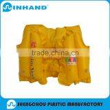 factory sale promotional pvc inflatable children Swim vest/baby life jacket inflatable swim vest