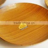 Round Eco-Wooden Tray, Round Wooden Plate, Snack Tray, Food Tray, Serving Tray, Anti Slip Tray, Smooth Surface Tray
