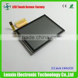 Sunlight readable 3.5 inch transflective lcd panel with resistive touch