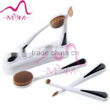 5PC/Set Your logo welcome individual package Oval Makeup Face Powder tooth brush shape foundation brush