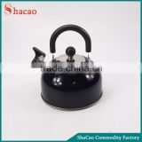 Black Color Stainless Steel Whistling Kettle Whistle With Plastic Handle
