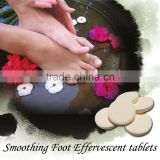 100 % natural smoothing foot effervescent tablet and without any synthesize ingredient