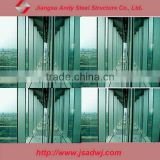 Double hot channel glass curtain wall