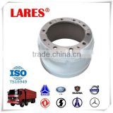 Steel front wheel brake drum for DAF heavy duty truck parts