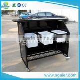 black color aluminum bar counter ,restaurant folding bar counter price,top sale bar table