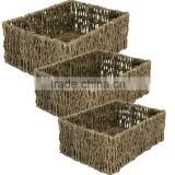 Rectangular Seagrass Baskets Set For Home Accessories Storage Ideas By Seagrass Storage Baskets Seagrass Baskets Wholesale Seagr