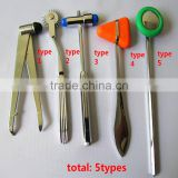 5types/set Multifunction Neurological Personal Care Doctor Hammer Medical Diagnostic Reflex Hammer