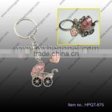 wedding gift Pink baby car key chain / delicate Pendant