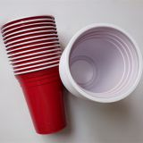 12oz/360ml PS disposable plastic beer cup / disposable plastic party cup/red disposable plastic wine cup