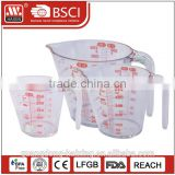 Plastic beaker Measuring cup #8175 250 500 1000ml