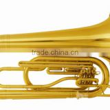 3 piston valve gold brass marching tuba musical instrument