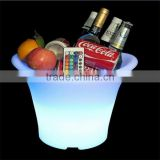 LED shenzhen remote control led beer/ice bucket artificial ice plastic juice bar design ice cubes new banquet ice bucket