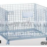 Service Supplies Folding Stackable Container Wire Mesh Basket Warehouse Cage