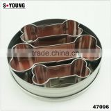 47096 3pcs dog bone stainless steel cookie cutter set