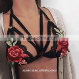 new summer woman crop top sexy girl bikini bra hot sexy girl picture embroidery bralette bra lingerie